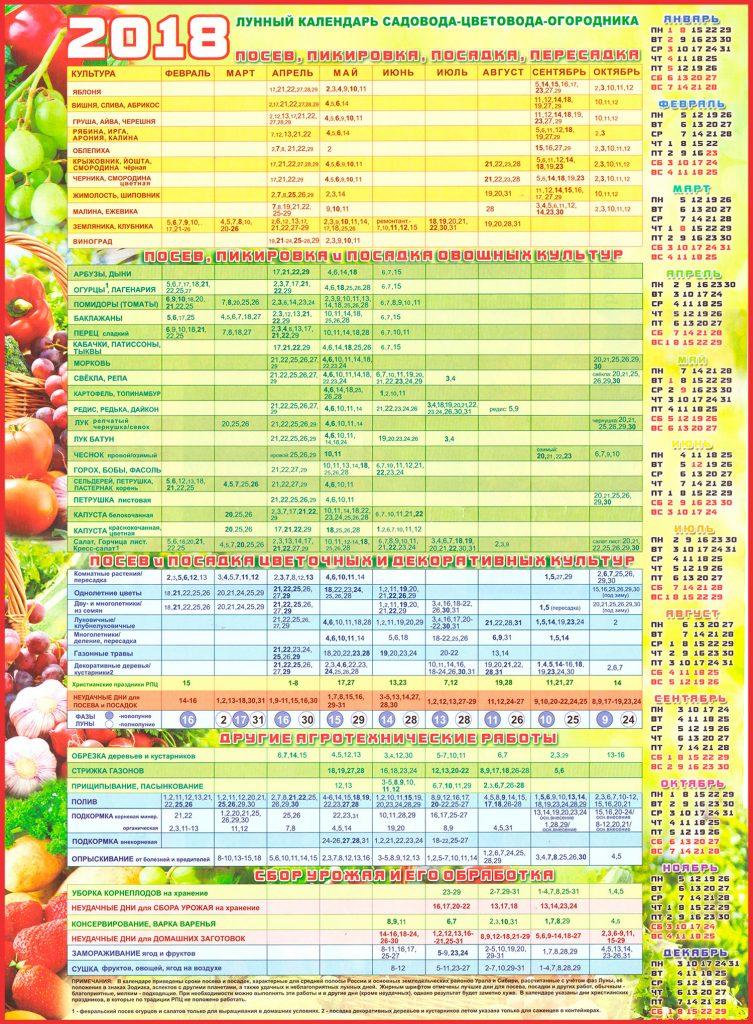 лунный календарь сибири 2020